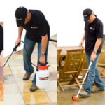 gripACTion anti-slip tile treatments being applied