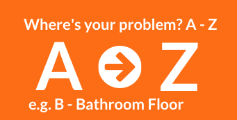 Image of the A-Z for solving slippery floor problems at www.gripACTion.com.au