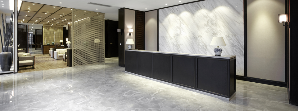 Image of a tiled hotel foyer at gripACTion.com.au