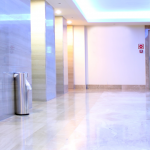 Image of a tiled lift lobby area at gripACTion.com.au
