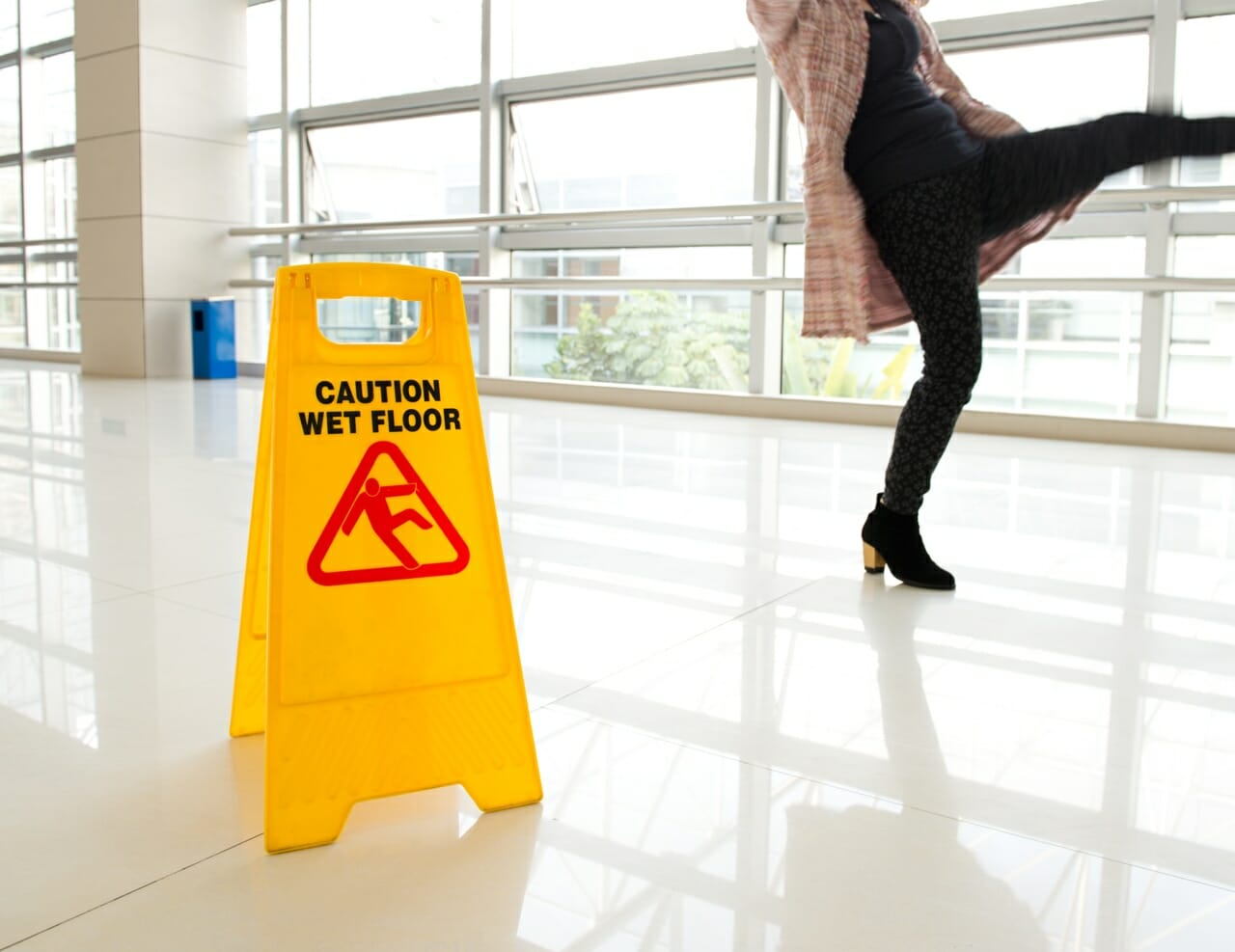 Image of a slippery floor