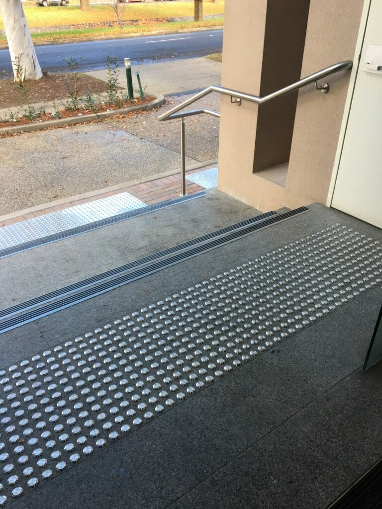 Image of Tactile Indicators on the top of stairs
