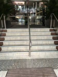Image of Tactile Indicators at the base of stairs